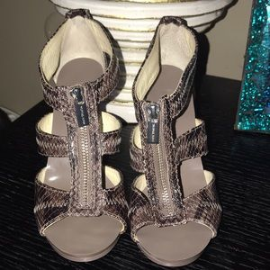 "MICHAEL Michael Kors zippered ""snake skin"" heels"